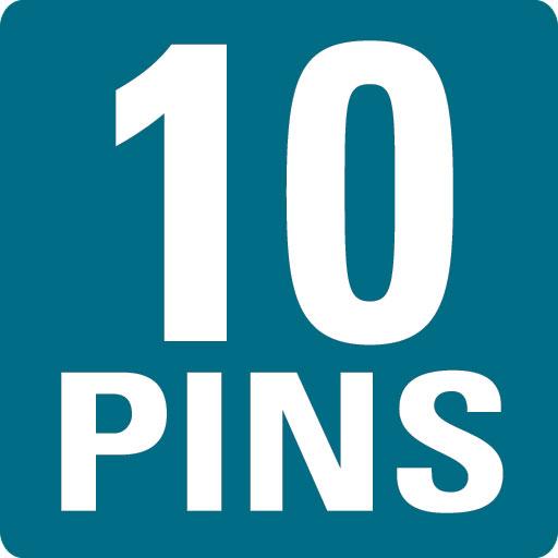 10 PINS